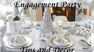 EASY WEDDING ENGAGEMENT DINNER PARTY TIPS & DECOR @ HOME