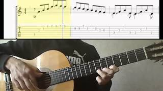 Этюд№1 - Н.Кост (Видео-ноты для гитары)