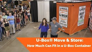 U-Box® Move & Store: How Much Can Fit in a U-Box Container