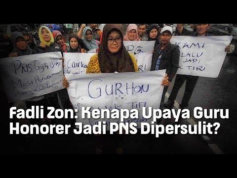 Fadli Zon: Kenapa Upaya Guru Honorer Jadi PNS Dipersulit?