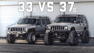 JEEP CHEROKEE XJ ON 37s IS FINALLY DONE! WALK-AROUND AND QUICK TEST DRIVE!