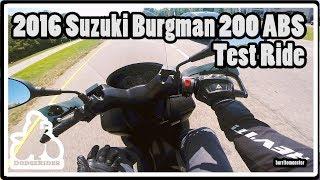 2016 Suzuki Burgman 200 ABS - Test Ride