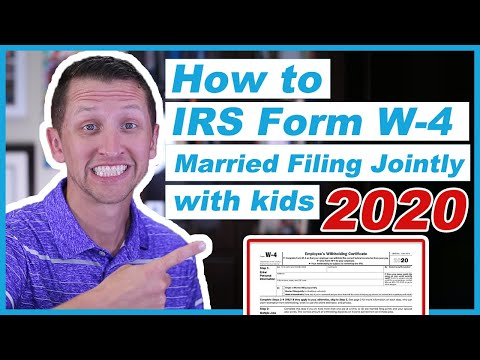 How to fill out IRS form w 4 2020 Married Filing Jointly
