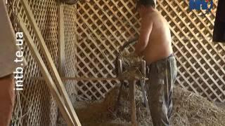 Тернополянин будує собі дім із соломи