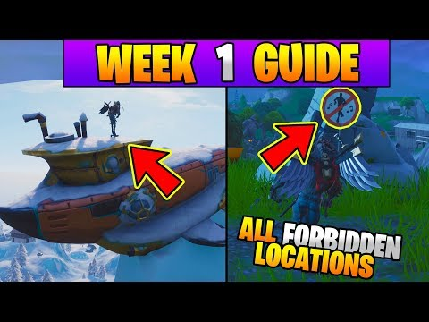 All Week 1 Challenges Guide Fortnite Battle Royale Season 7 Evan