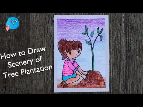 How To Draw Save Trees Save Plants Cartoon Drawing Do Not Cut
