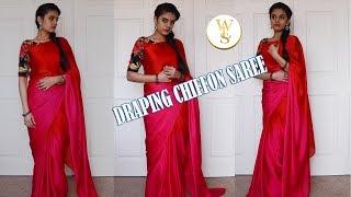 How to drape a chiffon saree | With Love Sindhu