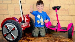 Den Unboxing and Assembling new Power Wheels! Kid wake up mom for surprise! Video for children