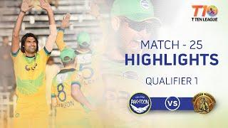 Match 25 Qualifier 1 Northern Warriors vs Pakhtoon T10 League Season 2