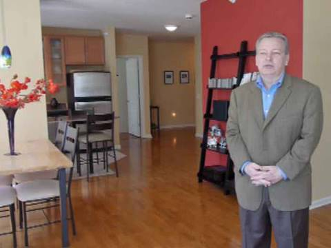 Inside a remodeled two-bedroom at the Park Alexandria in the West Loop