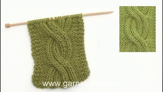 How to knit rib stitch cable