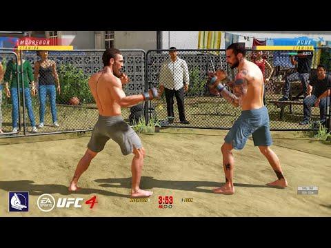UFC 4: CM Punk vs Conor Mcgregor (backyard fight)  Epic gameplay