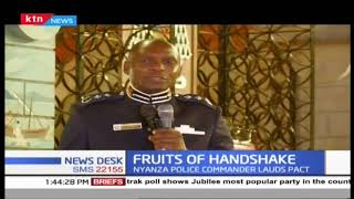 Nyanza Police commander lauds 'handshake' pact as political temperatures are low