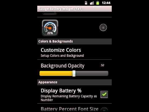 Video of Gauge Battery Widget 2015