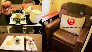 Japan Airlines First Class 777 Tokyo Narita to New York JFK