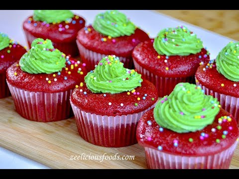 HOW TO MAKE HOMEMADE RED VELVET CUPCAKES WITH BUTTER CREAM FROSTING – ZEELICIOUS FOODS