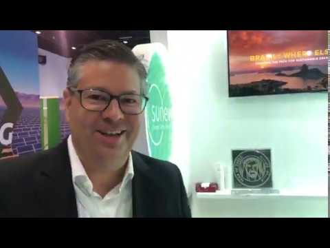 Entrevista com CEO da Sunew, Tiago Alves na The Big 5 Solar em Dubai