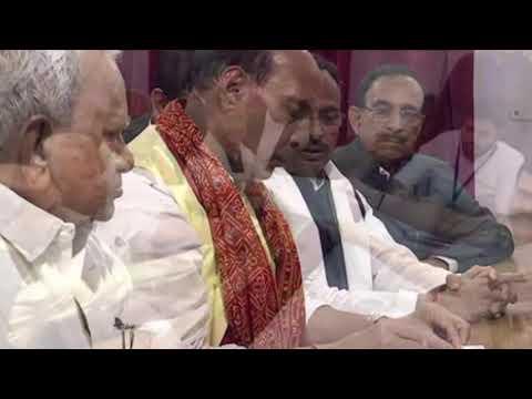 राजनाथ सिंह ने पूजा अर्चना और रोड शो के बाद किया नामांकन