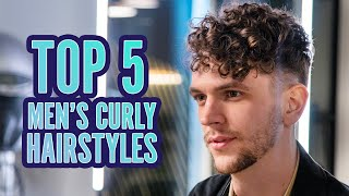 Top 5 CURLY Hairstyles FOR MEN 2020
