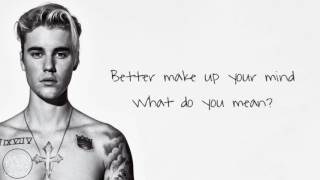 Justin Bieber - What Do You Mean (Acoustic Lyric Version)