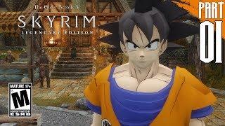 【DRAGON BALL Z IN SKYRIM】Goku Gameplay Walkthrough Part 1 [PC - HD]