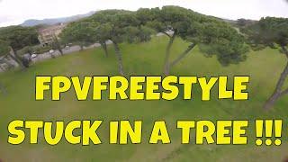 FPVFREESTYLE - Stuck in the tree !! #simoflyfpv