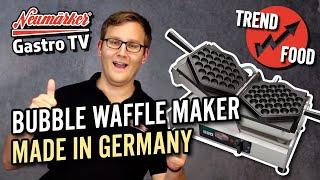 Bubble Waffle Maker | das Profiwaffeleisen mit Wechselplatten von Neumärker | Wie es geht?