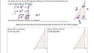 Special Right Triangles (30-60-90) Notes