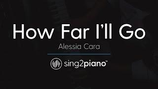 """How Far I'll Go (From """"Moana"""") [Piano Karaoke Instrumental] Alessia Cara"""