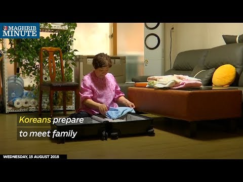 Koreans prepare to meet family