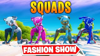 *SQUADS* Fortnite Fashion Show! FIRE Skin Competition! Best COMBO WINS!