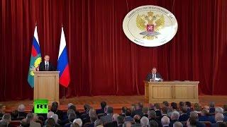 Путин выступает на совещании послов и постпредов РФ