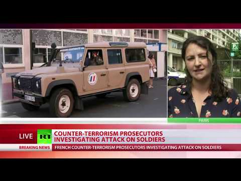Кола се вряза във войници в Париж, шестима са ранени