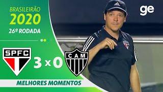 SÃO PAULO 3 X 0 ATLÉTICO-MG | MELHORES MOMENTOS | 26ª RODADA BRASILEIRÃO 2020 | ge.globo