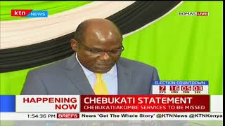 CHEBUKATI'S STATEMENT: IEBC chair full statement after Akombe's resignation