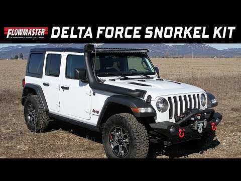 2018-20 Jeep Wrangler JL & Gladiator 3.6L engine - Delta Force Cold Air Snorkel Intake 615193