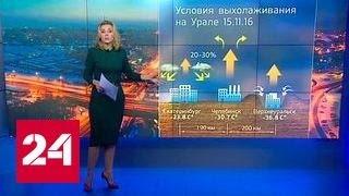 """""""Погода 24"""": 40-градусные морозы в России"""