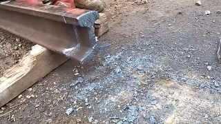 Oxy and propane cutting the rail