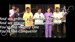 Mighty God written and sung  by Rev Angela Williams and the Harvest Praise Singers and musicians