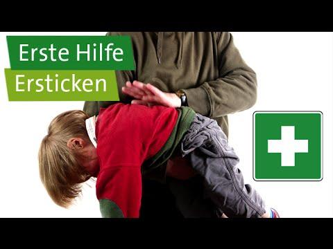 Erste Hilfe bei Kleinkindern und Säuglingen: Ersticken