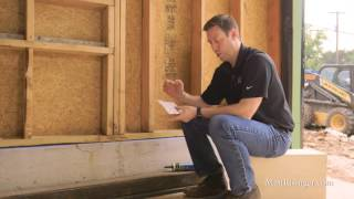 Air-seal joint between framing and concrete foundation.