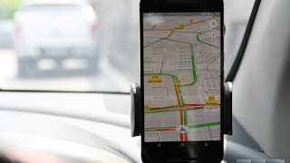 Driving with help of Google Map app (GPS)