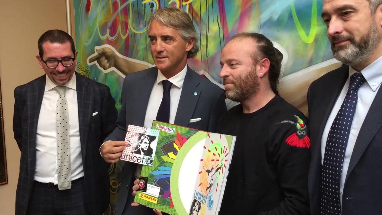 Calciatori per Unicef con Roberto Mancini