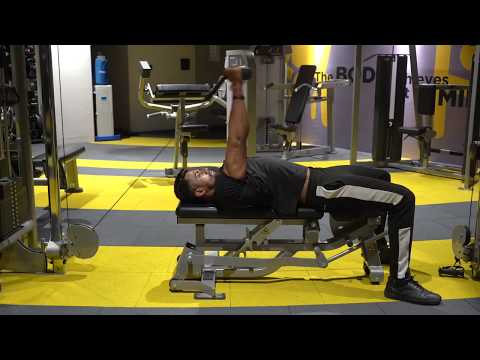 Cable Decline Triceps Extension
