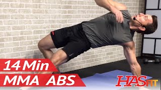 14 Min MMA Ab Workout w/ Coach Kozak - MMA Workout Training at Home by HASfit