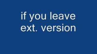 Gambar cover if you leave - omd