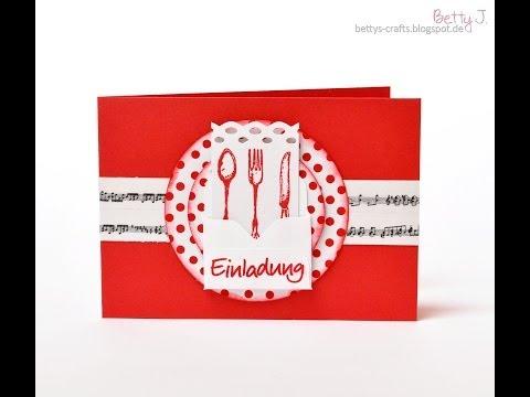 Einladung zum Essen/dinner invitation