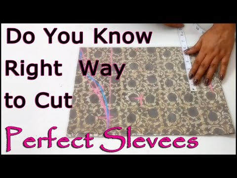 Do you know Right Way to Cut  Perfect Sleeves | Super Easy Way to Cut Sleeves