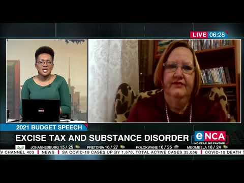 2021 Budget Speech Excise tax and substance disorder