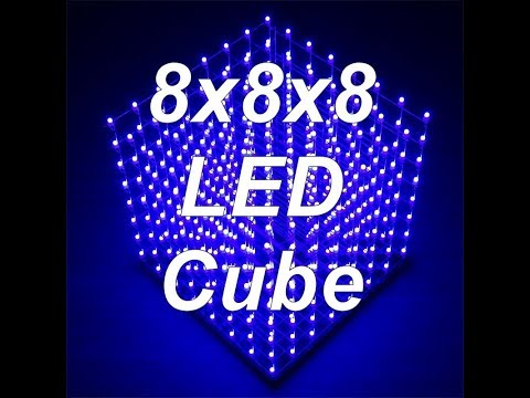 8x8x8 LED Cube Full Animation Cycle - Banggood